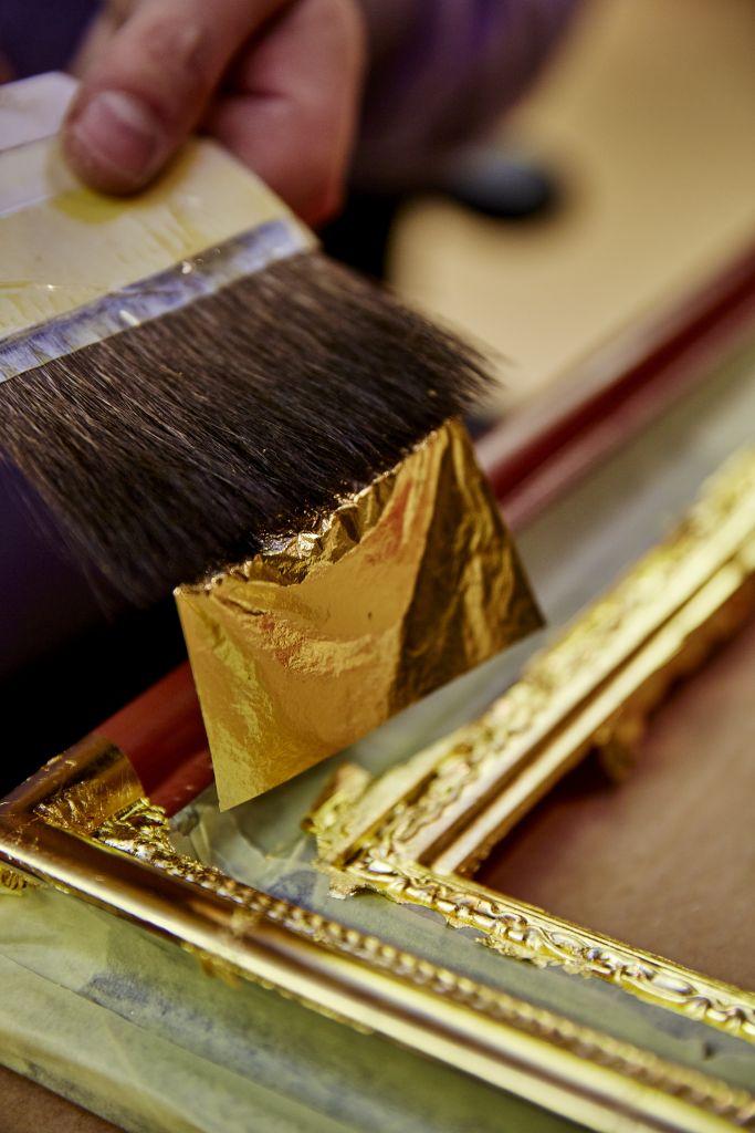 Gold Silver Leaf Frinton Frames